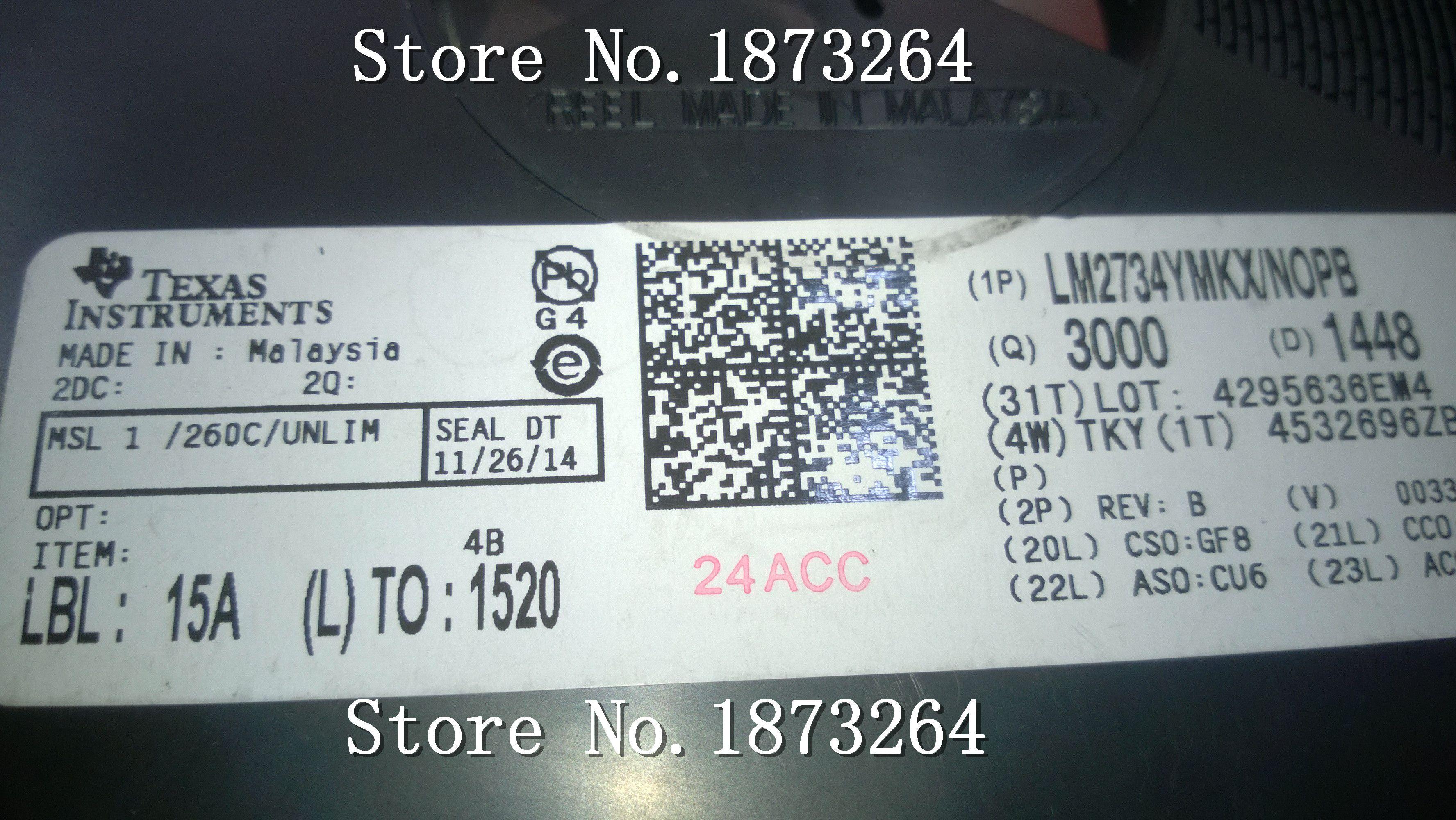 Ücretsiz kargo LM2734YMKX LM2734YMK LM2734 SOT23-6 orijinal ve yeni 10 ADET / GRUP