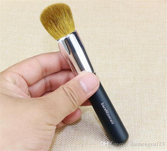 Pinceau cosmétique minéraux 150pcs avec manche en laine et bois, pinceau à poudre, pinceau à blush, pinceau de maquillage doux A127