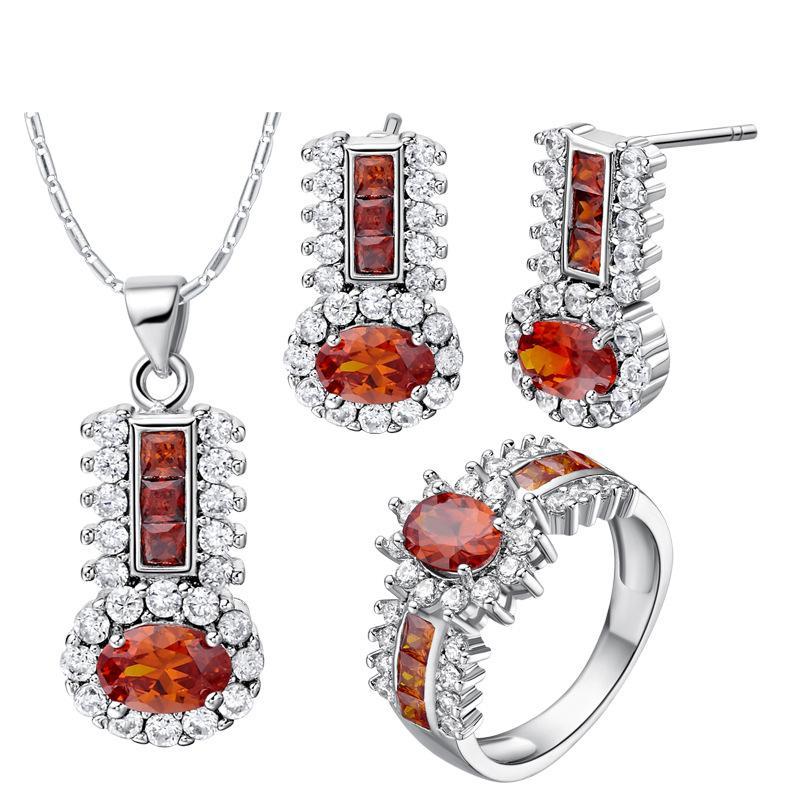 Argento 925 placcato NUOVO vestito fatto vestito di diamante di cristallo di moda di fascia alta moda