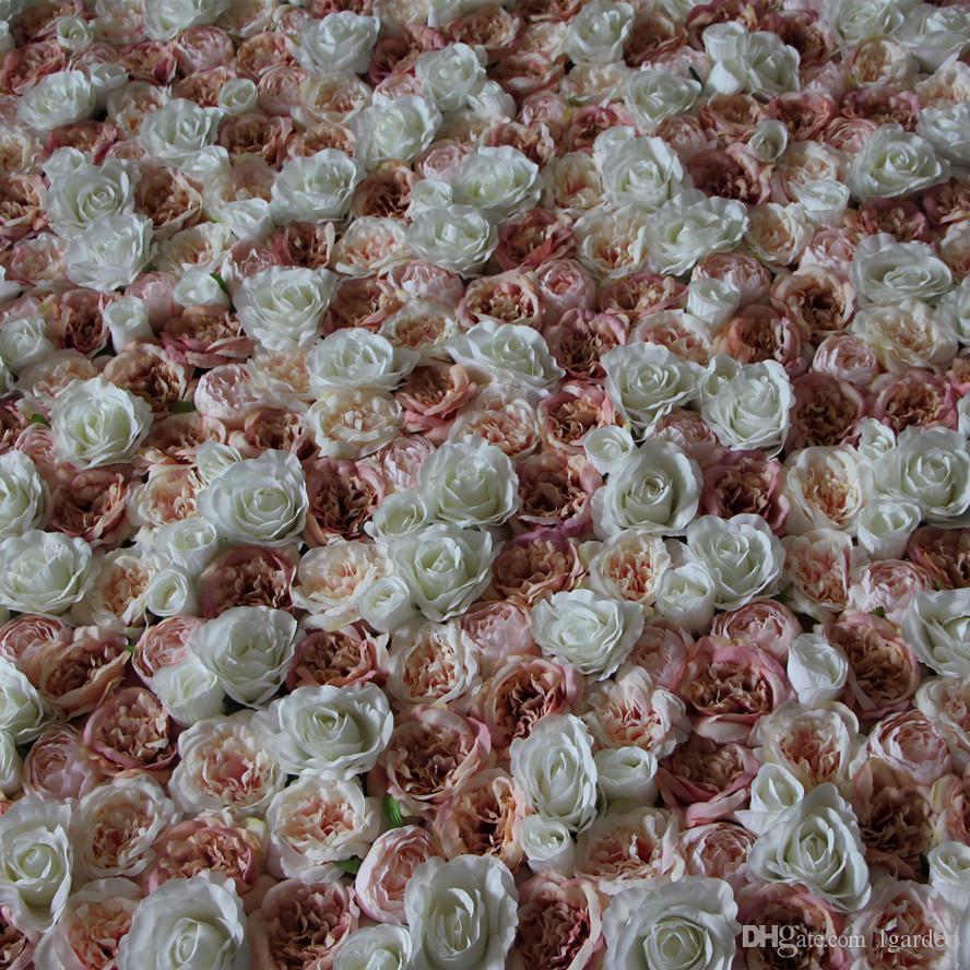 Fleur artificielle fond de mariage de mariage nouveau Hortensias Europe rose pelouse / pilier plaque de fleur route plomb maison