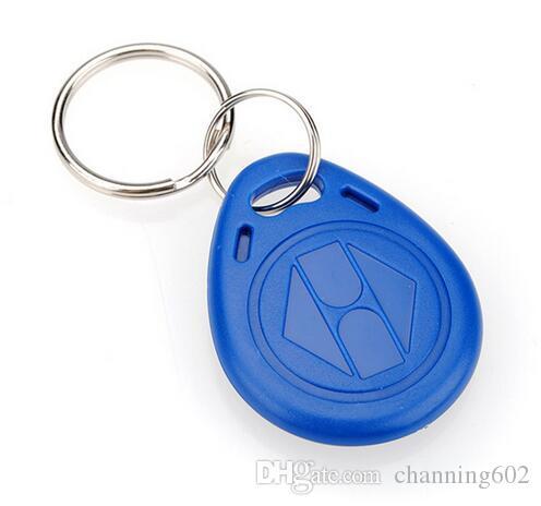 100 pcs porte-clés cartes ISO11785 Tk4100 / EM4100 125kHz porte-clés personnalisé étiquette en plastique RFID contrôle d'accès porte-clés en plastique