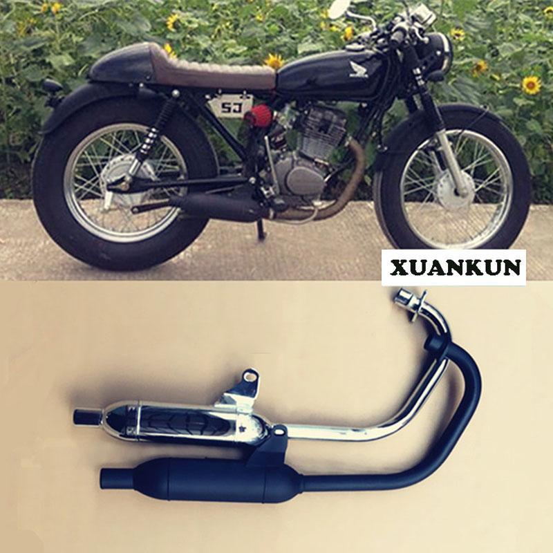 Tubo de escape de la modificación retra de la motocicleta CG125 / tubo de escape de la tubería posterior Tubo de escape / versión corta de la muda