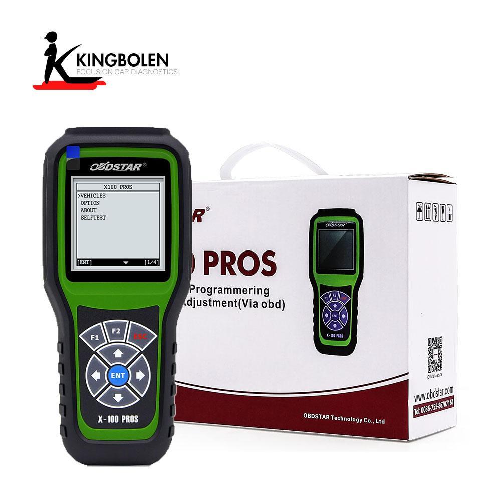 OBDSTAR X-100 x100 ProS C type OBD2 OBDII Auto Key programmer C model + eeprom security code reader function obd2 diagnostic tool DHL Free