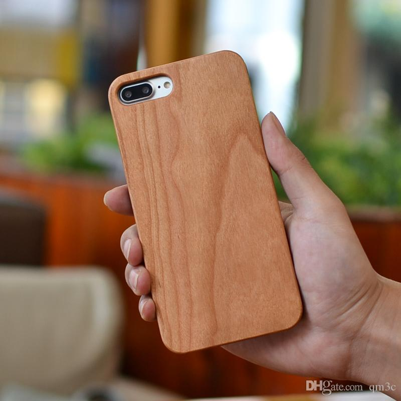 DHL Free Shipping Real Wood Phone Hard Cover Case For Iphone 6 6s 7 plus Luxury Custom Wooden Bamboo Back Shell For Apple