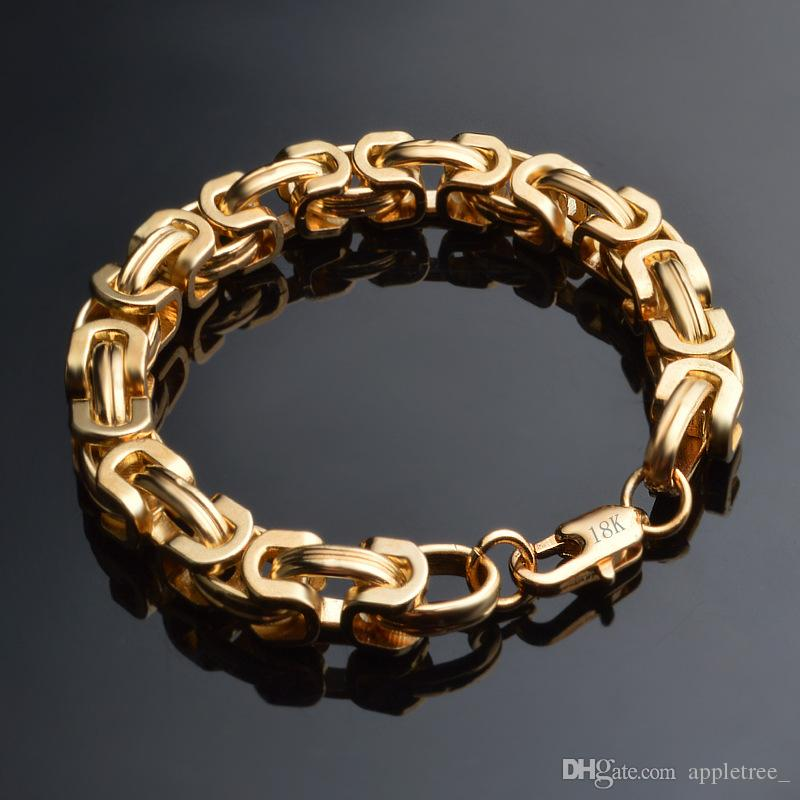 design intemporel 4227f 00b19 Acheter Hommes Femmes Chaîne En Or 18 Carats Bracelet Plaqué Or Hommes  Chaînes De Figaro Bracelets Pour Hommes Femmes Bijoux De Luxe Homme Femme  ...