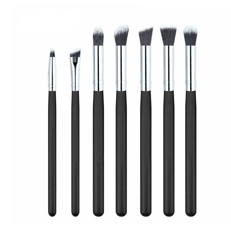 Wholesale- Professional 7pcs Beauty Makeup Brushes Set  Synthetic Kabuki Cosmetic Blending Eyeshadow Eyebrow Brush Brushes Kit Tool