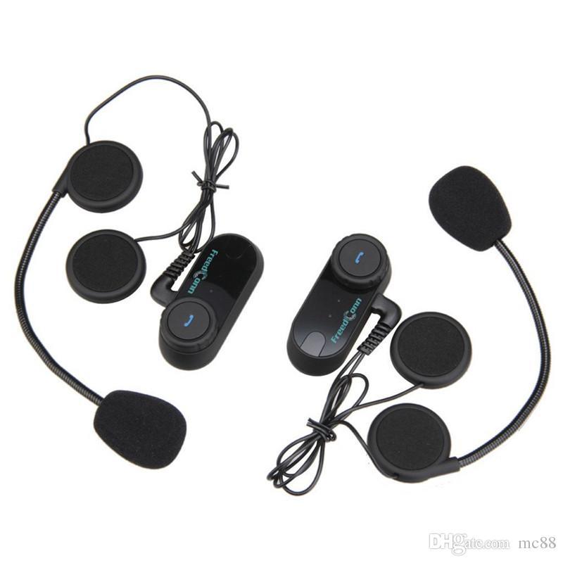 Più nuovo 2x800m BT interphone bluetooth moto casco interfono auricolare moto citofono moto walkie talkie con radio FM