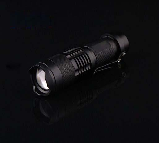 무료 DHL, 30PCS 울트라 라이트 미니 크리 어 LED Q5 손전등 토치 300LM 휴대용 미니 손전등 Zoomable 방수 손전등 토치 램프