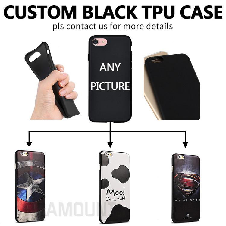 reputable site ee6ef a0db3 DIY Custom Design Own LOGO TPU Black Cover Case For Samsung S8 S8DIY Custom  Design Own LOGO TPU Black Cover Case For Samsung S8 S8 Plus Spigen Cell ...