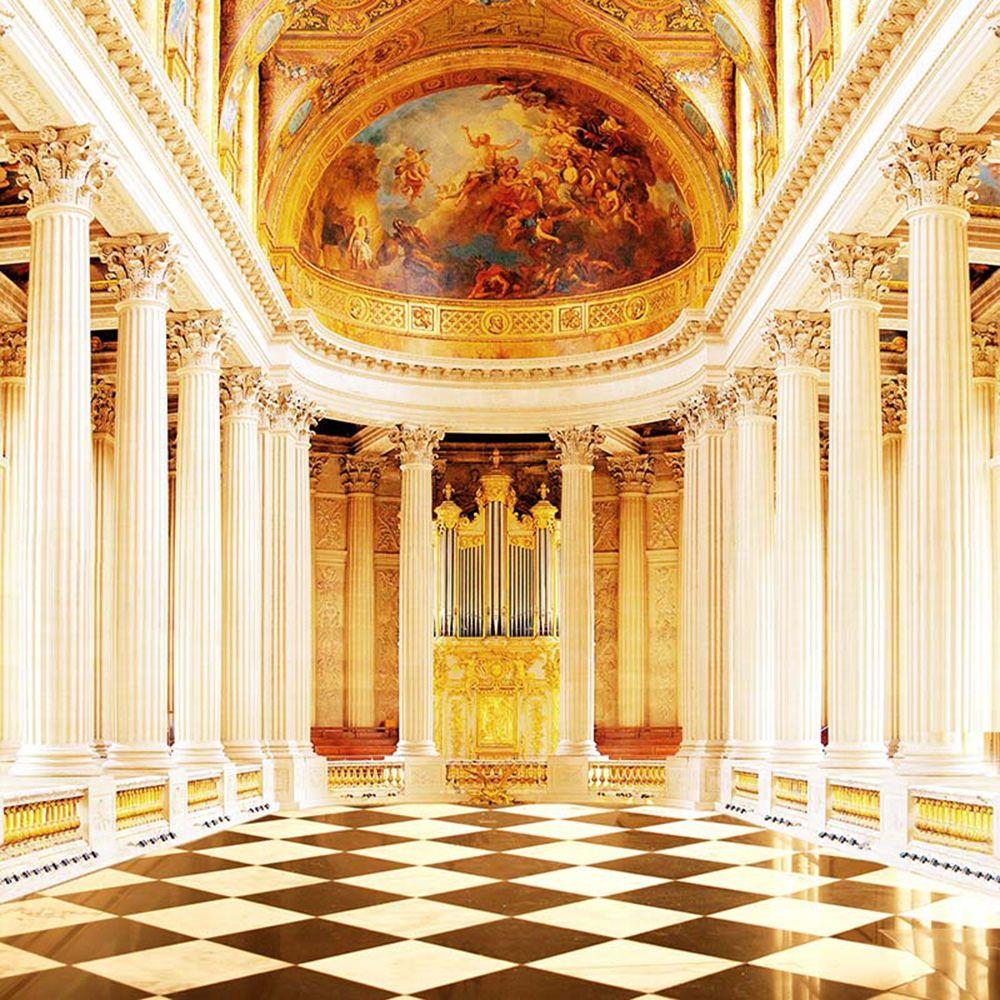 2020 Resplendent Palace Photo Backdrops Vinyl Stone Pillars Old