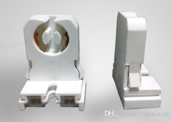 UPS DHL FEDEX Gratis 1000pcs Sin derivación T8 Soporte de lámpara Piedra de lápida para LED Tubos fluorescentes Reemplazo Tipo de portalámpara Medio Bi-
