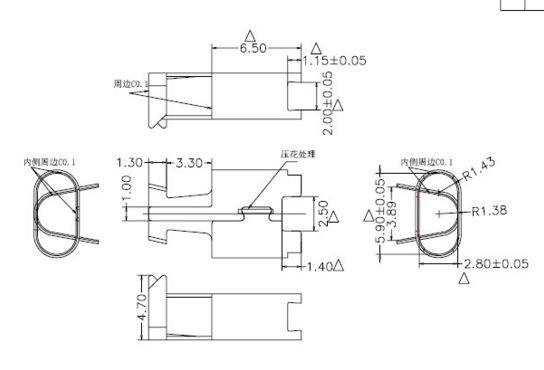 1000шт освещение разъем c48 разъемы для телефона OD2.8 нержавеющая сталь
