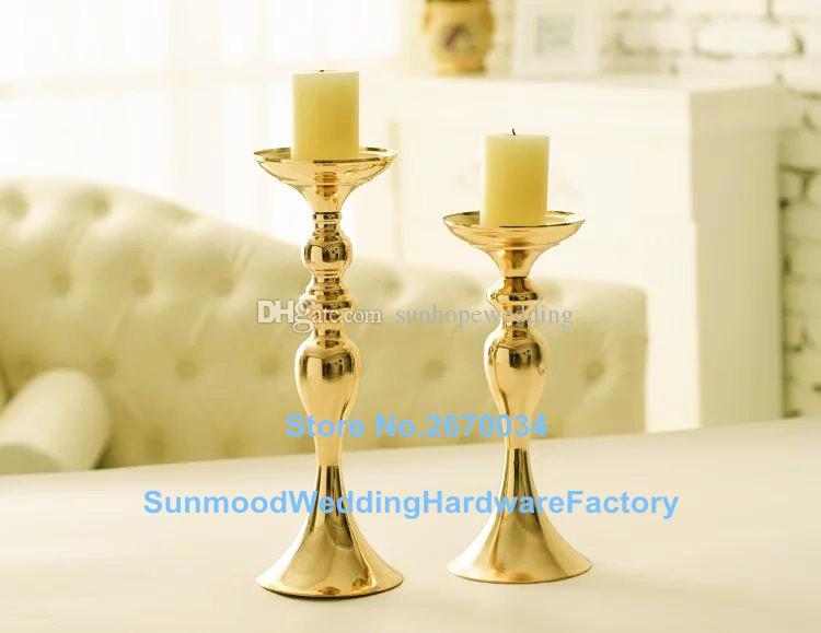 Castiçal de metal / castiçal em ouro / tira para casamentos
