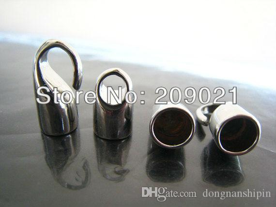 75 Leather Cord Ends Caps Necklace Clasp Jewelry Parts Q2L1 SGH