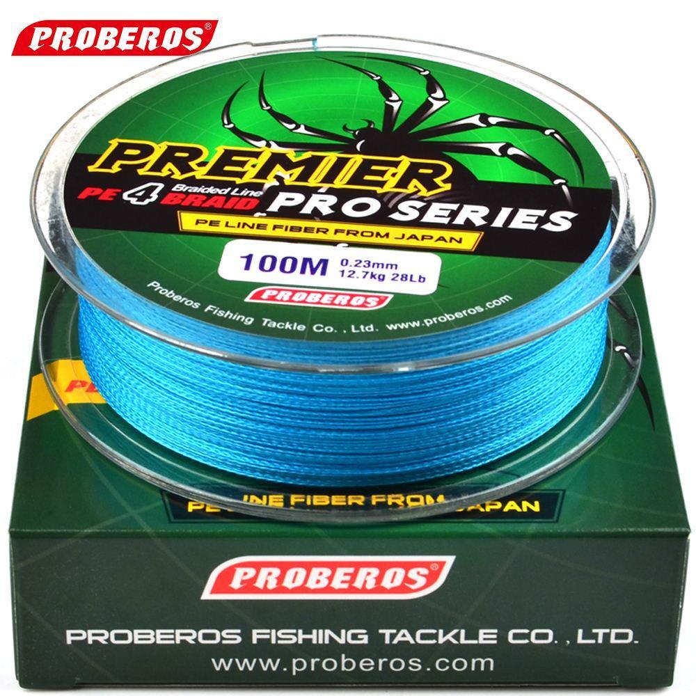 q0205 Linea da pesca 100M Rosso / Verde / Grigio / Giallo / Blu trecciata disponibile 86LB-100LB Linea PE Verde Pacchetto