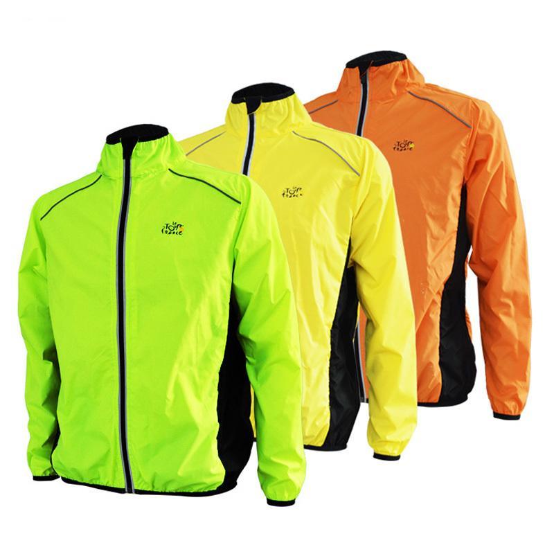 Großhandels- Tour de France Laufjacke Männer Sport Fahrrad Radfahren Jersey Langarm Jacke Atmungsaktive Reflektierende Wind Regen Mantel Winddicht