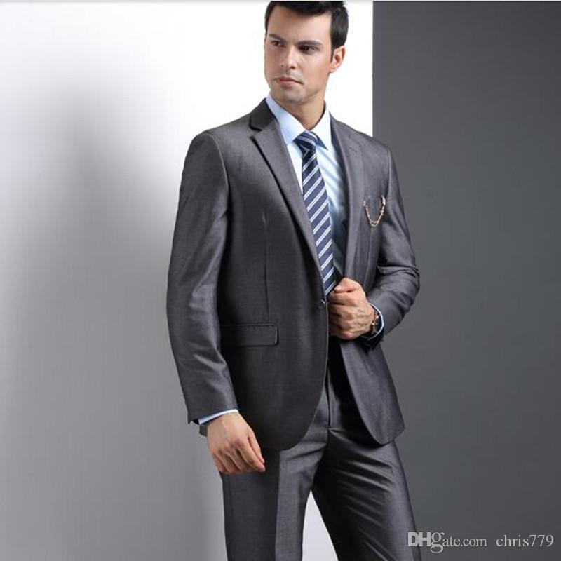 The new men's wedding suits slim fit Business casual suits fashion groomsman party feast dress suits(jacket+pants)