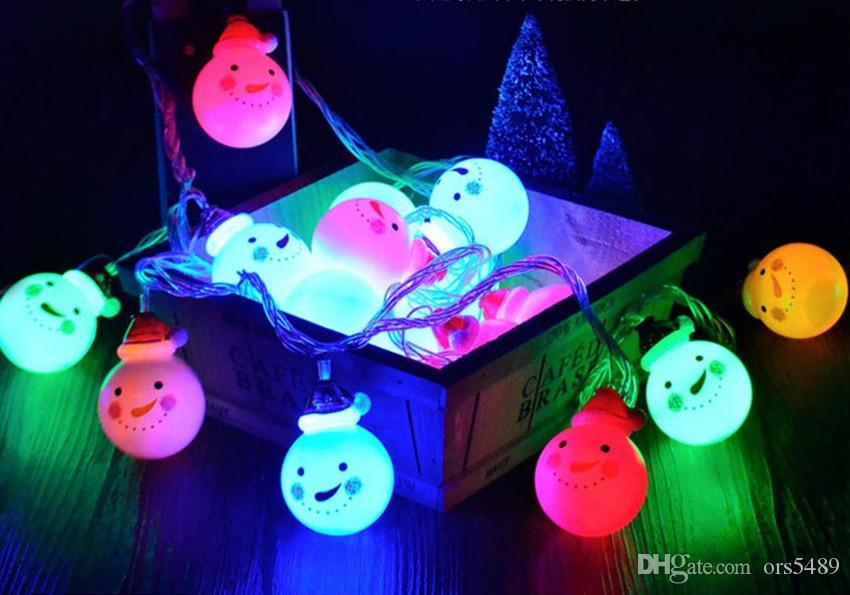 snowman led string lights led decorative light bedroom small lantern flash string lights red hat snowman