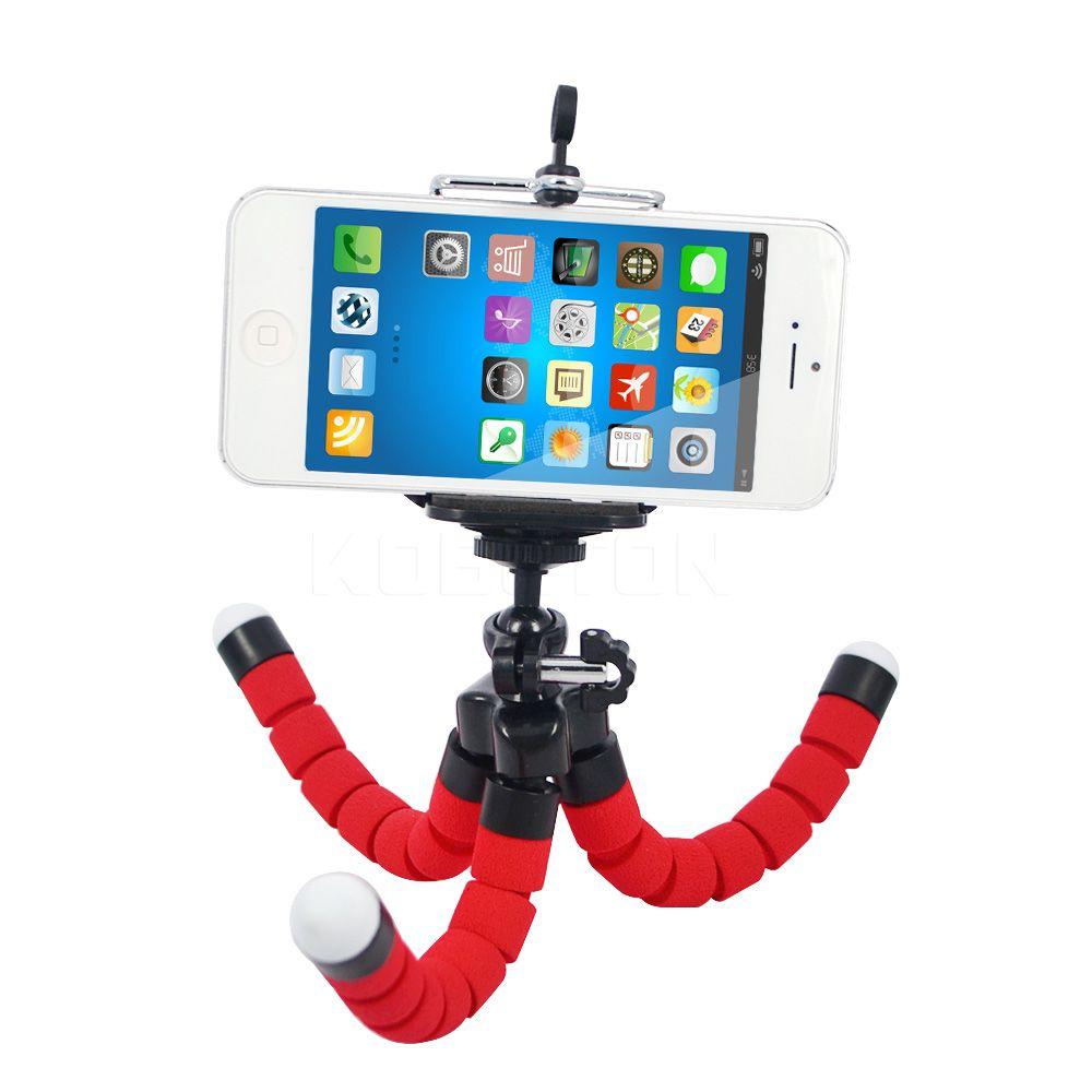 MOQ : 100pcs 미니 유연한 카메라 전화 홀더 유연한 낙 지 삼각대 브래킷 스탠드 홀더 마운트 Monopod 스타일링 액세서리