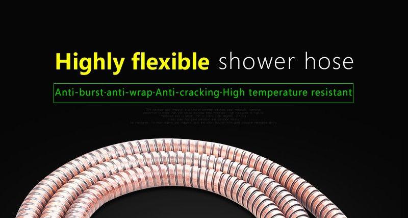 hm Antique Shower Hose 1.5m Stainless Steel ORB Brown Shower Hoses Flexible Bathroom Bidet Shower Hand Anti-Twist Faucet Hose (1)