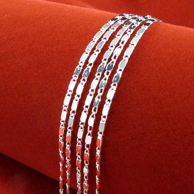 2mm Nueva Moda 925 Collar de Cadena de Plata Astilla Joyería Al Por Mayor Venta Caliente Colliers Femme Bijoux Collar Unisex
