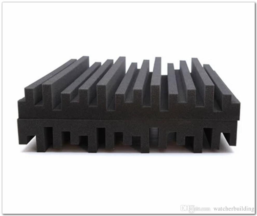 Neue ankunft Schwarz Farbe Akustikschaum Große größe 50 * 50 * 5 cm Studio Schaum Schallabsorbtionsbehandlung Schalldämmende ...