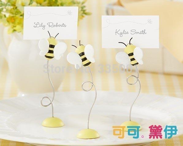 """favore e decorazione della festa di nozze-- """"Dolce come può l'ape!"""" Titolare della carta Baby Bee Place 100 pezzi / lotto"""