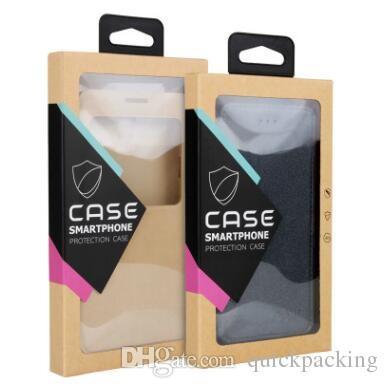 다채로운 후크 크래프트 갈색 종이 소매 상자 포장 상자 전화 케이스 용 블리스 터 내부 홀더 iPhone X 8 7 6 6S Plus Samsung S7 Edge OEM