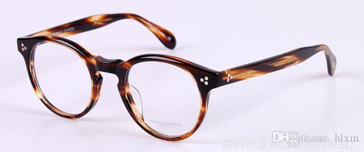 Oliver halklar gözlük çerçeve OV5336U antik yollar geri erkekler ve kadınlar yuvarlak düz gözlük kutusu