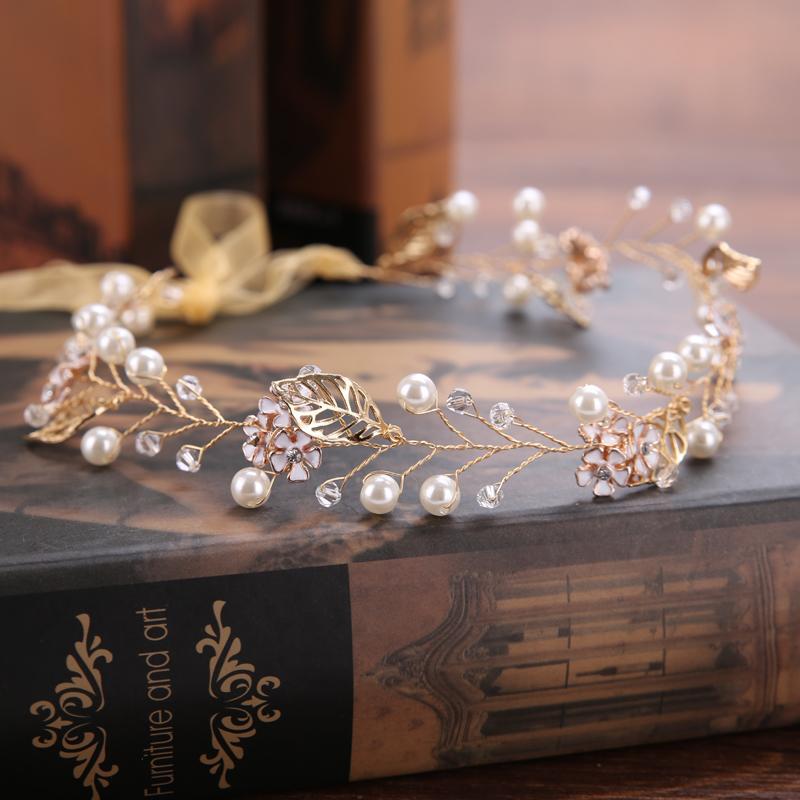 Großhandel Mode Gold Perlen Stirnbänder Für Frauen Braut Haarschmuck Handmade Kupferdraht Strass Haarschmuck Hochzeit Kopfschmuck Von Ck05 141 Auf