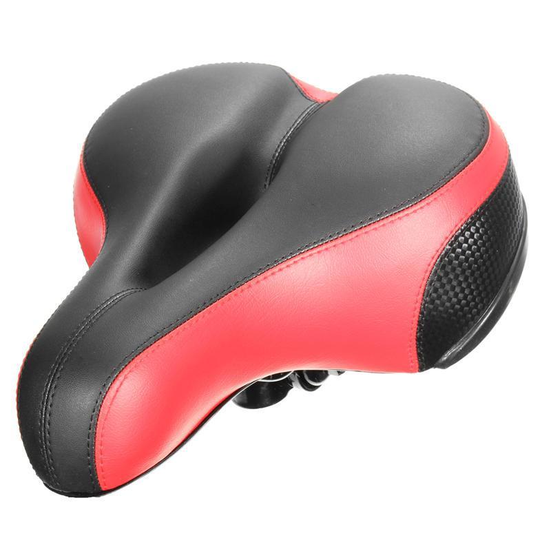 Широкие утолщенные велосипедные седло мягкие силиконовые с отражающими наклейками MTB дорожный велосипед седло сиденье велосипедные подушки подушки седло