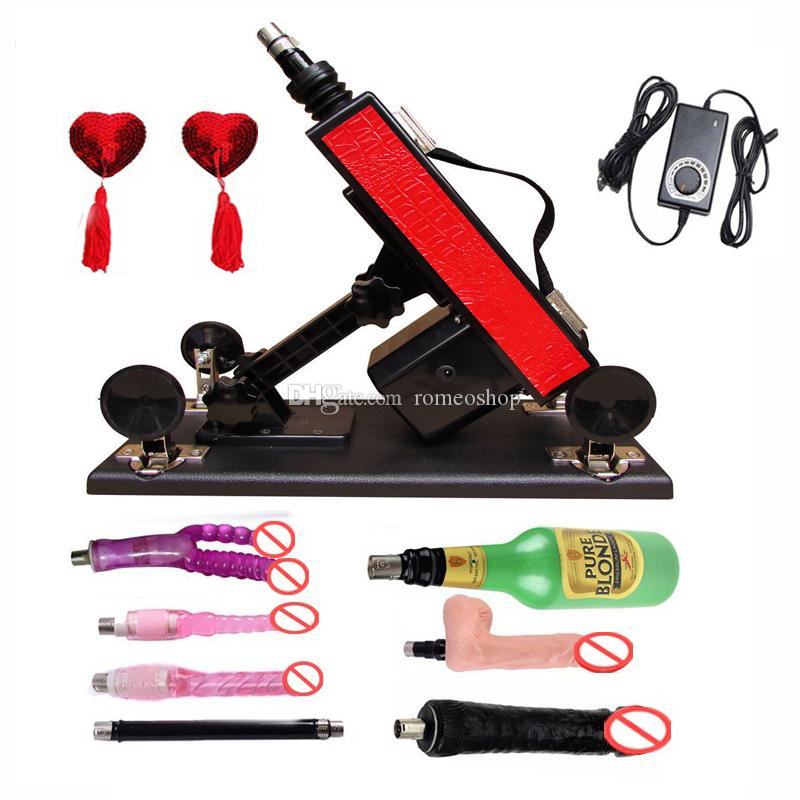 Red Color automatic Sex Machine Gun Set with Big Dildo and Vagina Cup, Adjustable Speed Pumping Gun, Sex Toys for Men and Women