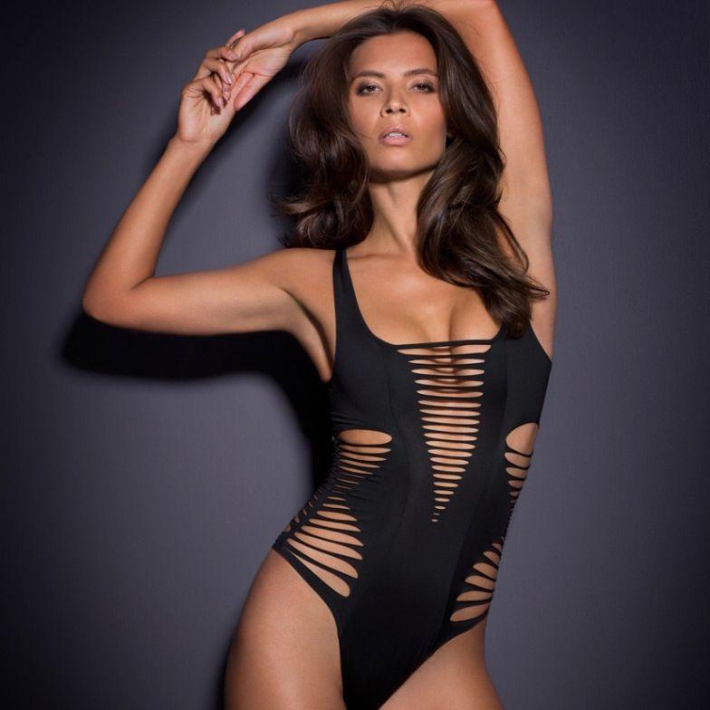 Einteiliger Badeanzug Sommer Strand Vintage Wear Bandage Monokini Badeanzug Sexy Swimwear Frauen Bodysuit Badeanzug Badeanzug Inist