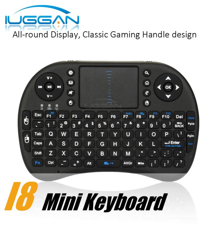 Rii I8 Fly Air Mouse Mini Wireless Handheld Keyboard 2.4GHz Touchpad Remote Control For M8S MXQ MXIII TV BOX Mini PC DHL