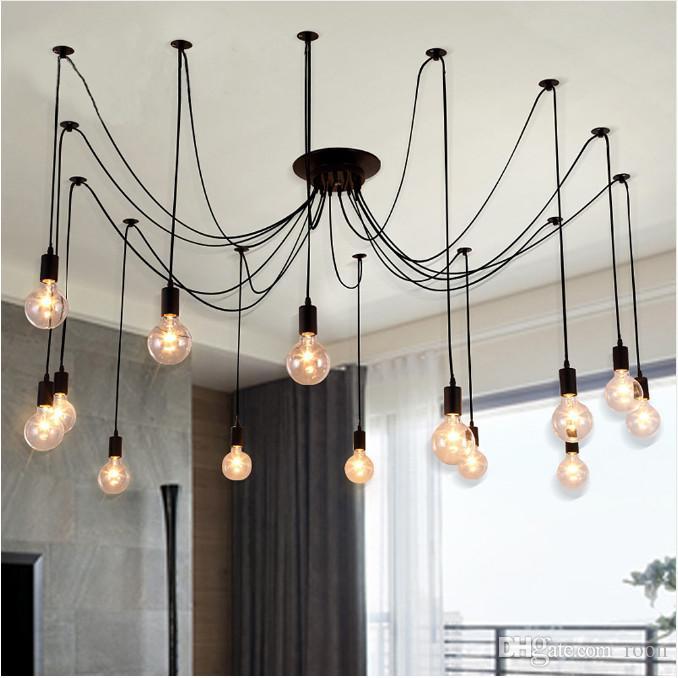 DIY Darling Flower Chandelier Modern Nordic Retro Hanging Pendant lights Fixtures Spider Ceiling Lamp Fixture Light for Room