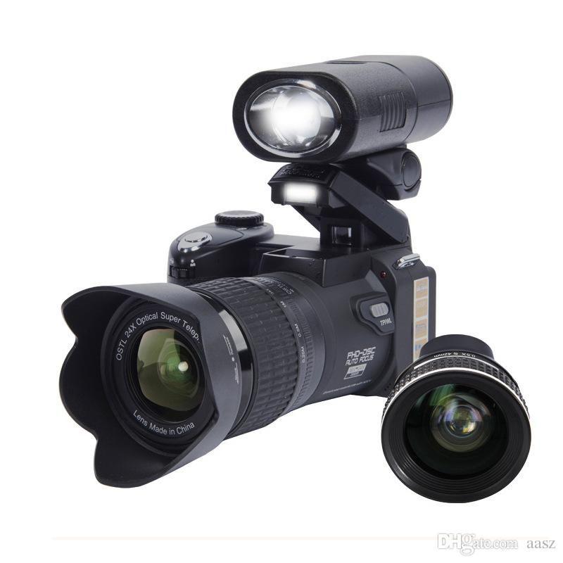 2019 PROTAX D7300 digital cameras 33MP Professional DSLR cameras 24X Optical Zoom Telephotos& 8X Wide Angle Lens LED Spotlight Tripod