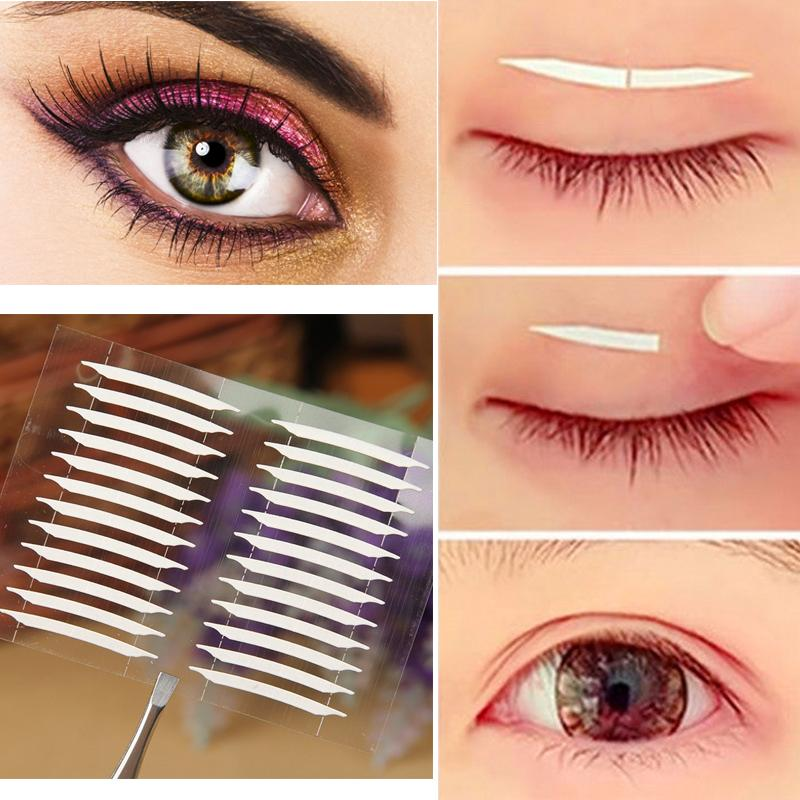 Wholesale-5 Sheets Makeup Tools Kit 3D Stickers Eye Invisible Double Side Transparent Eyelid Tape Trial Stiker Eyes Makeup Tape