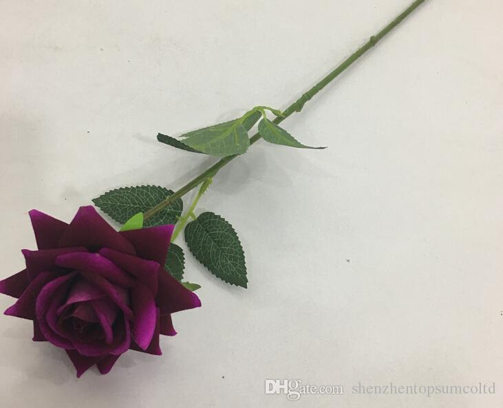 Echte touch lente zijde bloemen kunstmatige roze bloemen voor een bruiloft woondecoratie
