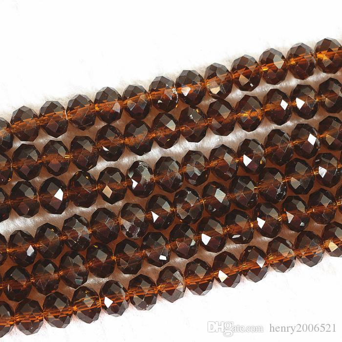 müşteriler diy 100 (± 3) PCS, 4 x 6 / 6x8 mm Amber Kristal Faceted Abacus Gevşek Boncuk sıcak övgü kazanmak için