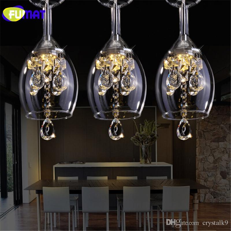 FUMAT K9 크리스탈 LED 와인 글라스 샹들리에 현대 크리 에이 티브 나선형 서스펜션 조명 레스토랑 빌라 로비 교수형 등기구