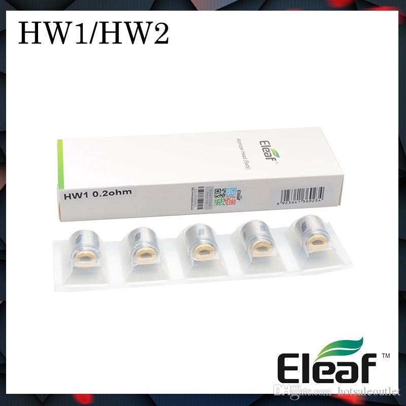 Authentique série Eleaf HW Bobines monocylindre HW1-C HW1 HW2 double cylindre 0.3ohm pour tête de mini-atomiseur HW3 ELLO Tête de HW4 pour Ello