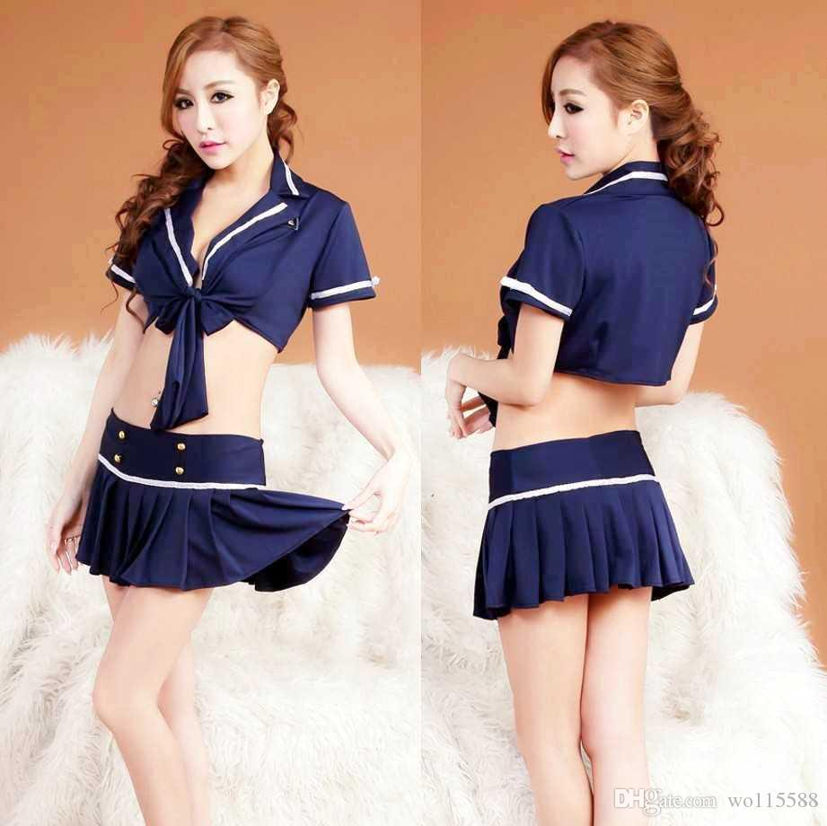 Free shipping new sexy lingerie professional suit sexy lingerie extreme temptation sm show miniskirt female police student uniforms nightclu
