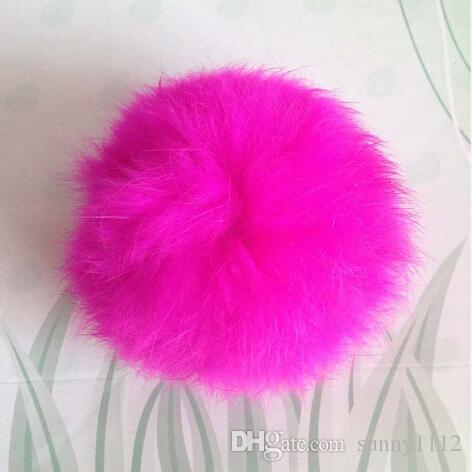 decoration 9cm rabbit fur balls puff rabbit Pom Pom ball for cloth keychains hats bags phone, Support customization