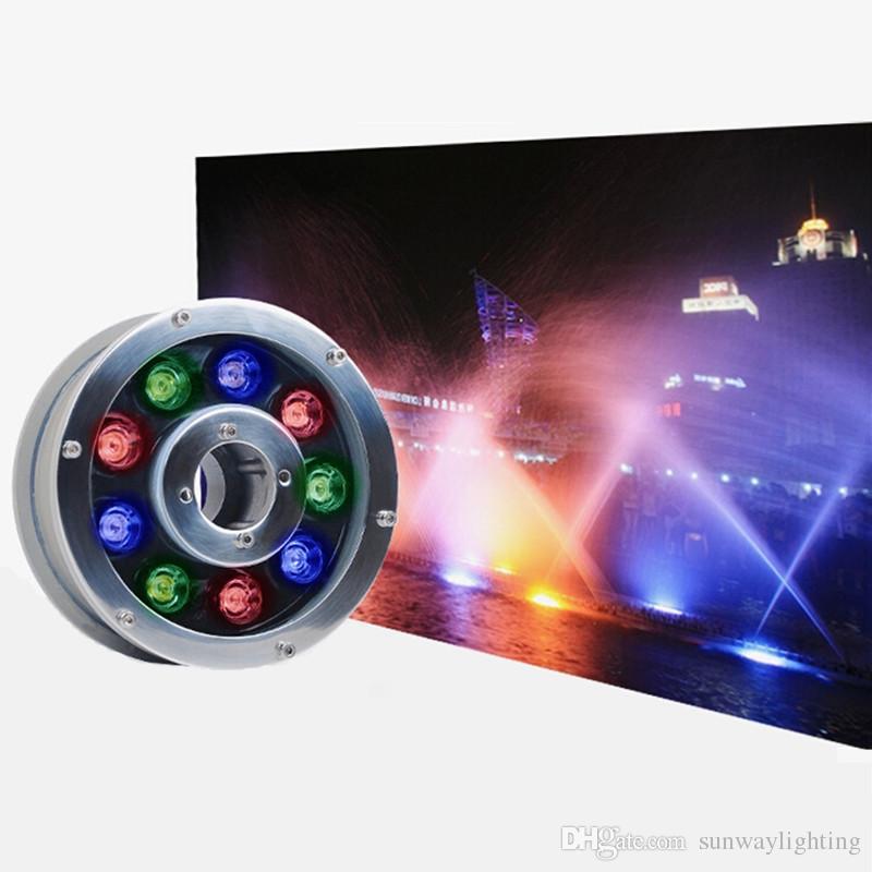 Lampe de fontaine sous-marine LED 6W 9W 12W 15W 18W IP68 LED Lampe de piscine Lampes de piscine RGB LED lumières 12V 24V 110V 220V