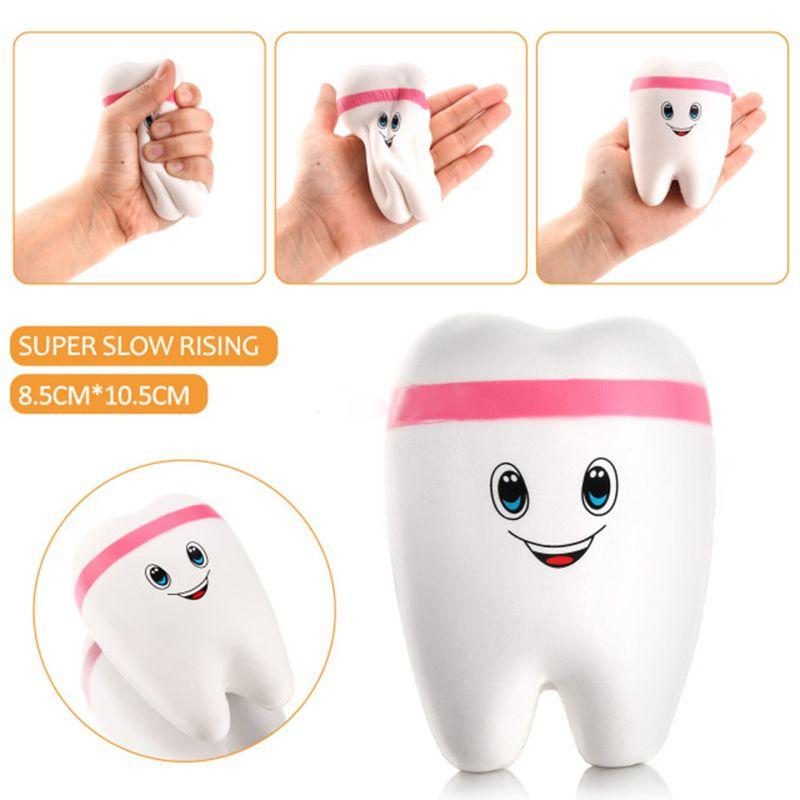 11CM Kawaii Squishy Denti Cartone Morbido Pane Cellulare Cinghie Portachiavi toy