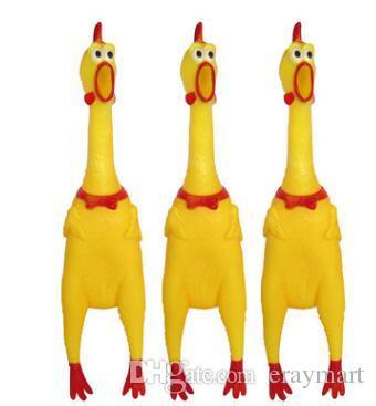 Le grand poulet qui hurle Un vent de décompression crie au poulet jouet pour animaux de compagnie A2