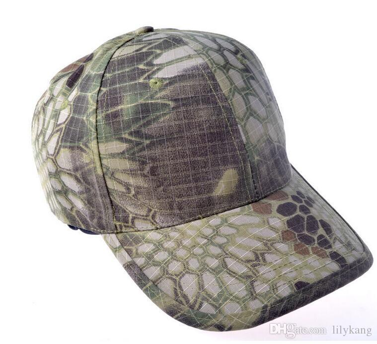 Outdoor Hiking summer Hat Camouflage Cap Adjustable Baseball Hat
