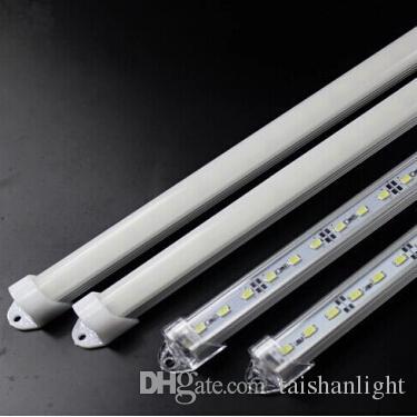 Luz da barra do diodo emissor de luz de DC12V 5730 branco, branco morno e frio 50CM branco 36LED com tampa de alumínio de Shell + PC de U