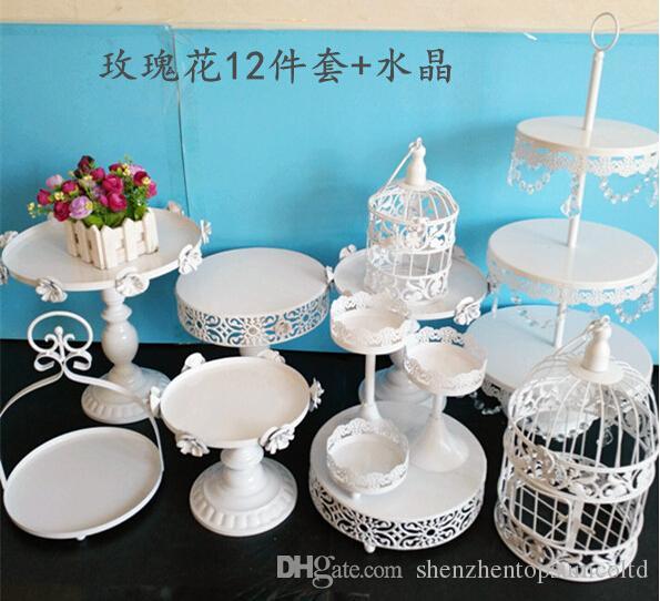 Bruiloft Dessert Lade Cake Stand Cupcake Pan Party Supply 12pcs / Set, de taart tafel Gratis verzending