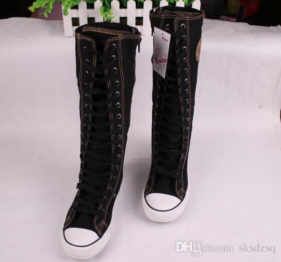 Nouveau Lace Femmes UP Chaussures Du Fille EMO Bottes Genou Toile Haute 17 Com Bottes De32 PUNK De Acheter SksdzsqDHgate Hot Sneaker iukZOTwPX